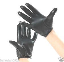 Herren 100% Echt Schaffell schwarz / braun Polizei handschuhe