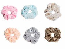 Velvet Scrunchie Super Soft Feel Velvet Hair Scrunchies Bobble Pretty Pastel -c2