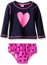 Osh Kosh B'gosh Infant Girls 2pc L/S Rashguard Swim Set Size 3M 6M 9M 18M 24M