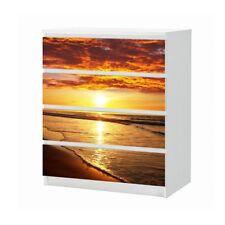 Set Möbelaufkleber für Ikea Kommode MALM 4 Fächer Meer Strand Folie 25B1894