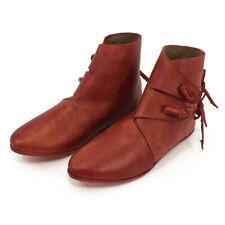 Mittelalter Schuhe Wikinger-Schuhe Herren u Damen Rot Mittelalterschuhe Larp
