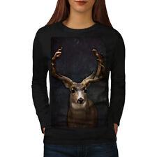 Beast Wild Animal Deer Women Long Sleeve T-shirt NEW   Wellcoda