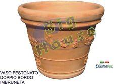 Vaso fioriera resina festonato imbruneta per piante fiori esterno giardino
