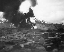 B&W WWII Photo Dutch Harbor Alaska Japanese Attack June 42 WW2 World War Two