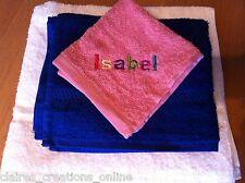 Personnalisé de flanelle de coton/serviettes, anniversaire, nouvelle maison, nouveau bébé broderie cadeau
