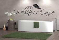 Wandtattoo Badezimmer  2277**Wellness Oase  Fliesenaufkleber Wandaufkleber