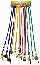 Acier arbitres jeux de sport enseignants sifflet en métal avec cordon cordon coloré