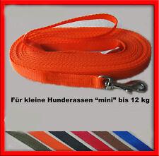 Ausbildunsleine Suchleine Schleppleine für kleine Hunde 3m bis 30m in 6 Farben