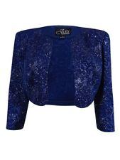 Alex Evenings Women's Glittered Textured Cropped Jacket