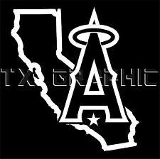 ANAHEIM DECAL ANGELS CALIFORNIA STATE MAP VINYL STICKER  WINDOW LAPTOP