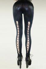 Legging gothique moulant à lacet gogo clubwear coquin sexy libertin