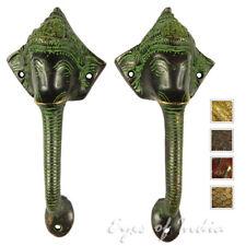 """9 """" COPPIA in ottone GANESHA ELEFANTE Maniglie di portello TIRA cabinet bronzo"""
