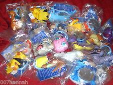 1 Pokemon Stofftier zur Auswahl/Burger King/7-15cm/Plush-Figur mit Anhänger, Neu