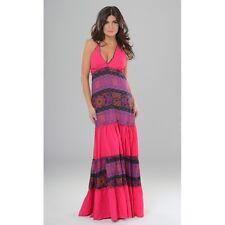 Kleid Maxi Spaghettiträger Sommer Strand Gr. S bis L italienische Mode  Baumwolle 96a7f2bbbd