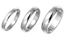 Plain 925 Sterling Silver Wedding Band Ring | 3mm 4mm or 5mm L N P R S U W Y Z