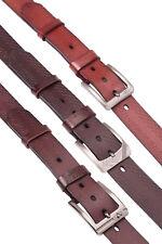 """Hombre 1.5"""" Estampado de cuadros PREMIUM Cinturón de cuero pin de Metal Hebilla"""