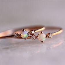 Ladies Rings Rose Gold Plated Micro Pave Ring Encrusted Rhinestone Jewelry RU