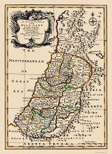 Old Israel Map - Twelve Tribes Of Israel - Bowen 1752 - 23 x 31.67