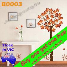 Huge 2m Wall Decal Sticker Autumn Maple Tree Window Lounge Room Decoration B0003