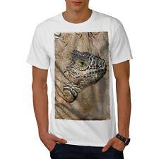 Wellcoda Lizard visage Nature T-shirt homme sauvage, conception graphique imprimé Tee