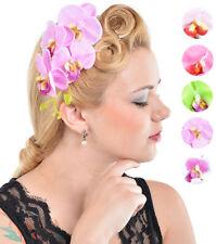 Cute Tiki ORCHIDEEN Blüte Flower Haarspange - Rockabilly
