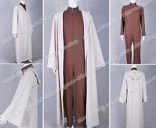 Star Wars Jedi Master Yoda Cosplay Costume Jumpsuit Robe Cape Halloween Amazing