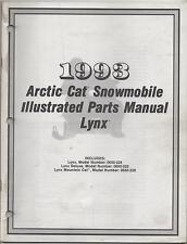 1993 ARCTIC CAT SNOWMOBILE LYNX  ILLUSTRATED PARTS MANUAL P/N 2254-853