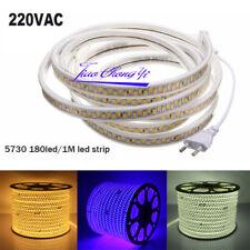 5730 5630 LED Strip Light 180leds/m Flexible Tape Rope Lamp AC220V EU Plug