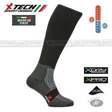 Calze Termiche Tecniche X-TECH SPORT Made in Italy 100% Thermo Socks W Black