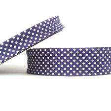 pois fixation en biais - 18mm - Violet - Tissu coton pliable bordure