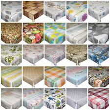 Wipe Clean PVC Tablecloth Rectangular Kitchen Dining Oilcloth Vinyl 250 x 140cm