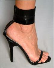 UK Women Peep Toe Big Strap Sandals Stiletto High Heels Nightclub Men Shoes Size