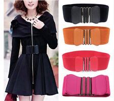 Womens Ladies Fashion Wide Elastic Stretch Corset Cinch Waistband Waist Belt