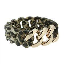 Armband Damen HANSE-KLUNKER ORIGINAL Edelstahl Silikon leopard rosegold 107037