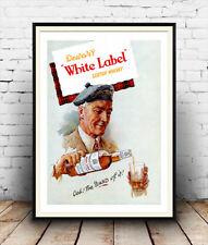 Dewars White Label, vintage Scotch Whiskey Pubblicità poster riproduzione.