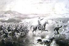 CRIMEAN WAR ALMA ORIGINAL ILLUSTRATION SEPIA CIRCA 1860