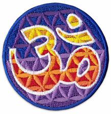 Om Aom Aum Symbol Blume des Lebens Goa Mandala Aufnäher Aufbügler Patch Sticker