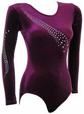 Gymnastic Leotard Girls Ladies Gym Leotards Dance velvet Sparkly Gymnastics UK