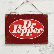 Oval Logo Dr Pepper Vintage Metal Wall sign Cola Retro Kitchen Bar Soda Pop Can