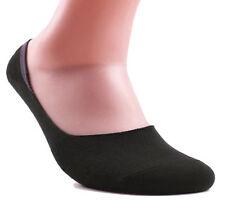 Women's Premium Bamboo No Show Casual Socks - 3 or 4 pair pack - Non-Slip