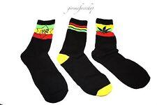 Para Hombre Weed calcetines, Un Amor Rasta cannabis, la marihuana, señoras Hoja Hip Hop 3 Pack