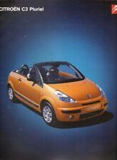 Citroen C3 Pluriel 2003-04 UK Market Sales Brochure 1.4i 1.6i