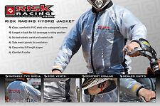 Veste de pluie Risk Racing Transparente Moto Scooter Quad S M L XL XXL
