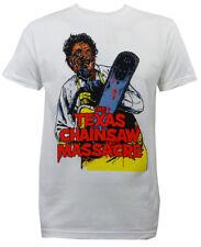 Authentic TEXAS CHAINSAW MASSACRE Illustration Slim Fit T-Shirt S-2XL NEW