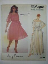 2983 Vogue Jerry Silverman designer long evening dress drop sleeves pattern sash