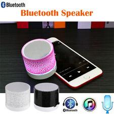 Portable Mini Wireless Stereo LED Light Bluetooth Speaker SD Card For Smartphone