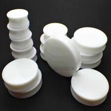 3mm-20mm oreja Plug blanco white plugs retainer acrílico túnel sencillamente piercing flexo
