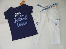 Gymboree Greek Isle Style Girls Size 5-6 Top Shirt Island & 5 White Pants NEW