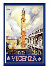 GICLEE ART PRINT/POSTER VINTAGE PALLADIO UNESCO RAIL TRAVEL VICENZA ITALY 255GSM