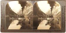 Keystone Stereoview Gudvangen's Outlook, Naerofjord, NORWAY from 1930's T600 Set